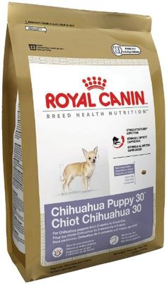 $21.87-$17.49 Royal Canin Dry Dog Food, Chihuahua Puppy 30 Formula, 2.5-Pound Bag - Royal Canin Breed Specific Puppy Formula's are engineered specifically with your special breed in mind.  Each is formulated to provide puppies with the best nutrition during their critical period of teeth and bone development and incredible rate of growth.  These puppy formulas have added vitamins and nutrients to ...