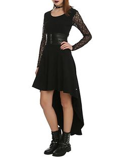 Royal Bones By Tripp Black Lace Sleeve Salem Dress, , hi-res