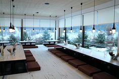 La banquise, l'espace restaurant du RockyPop Hotel aux Houches près de Chamonix