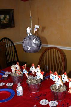 NASA Theme Birthday Party - great ideas on this post