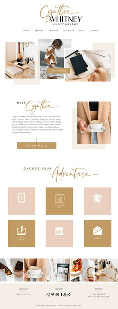 A feminine website and web design for a modern female business. Perfect for designers, artists and wedding professionals, modern feminine branding in neutral, dusty pink and mustard. Boho branding and Web Design Trends, Web Design Blog, Travel Website Design, Design Sites, Web Design Mobile, Design Food, Simple Website Design, Wordpress Website Design, Best Website Designs