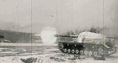 "The massive German 105mm K gepanzerte Selbstfahrlafette ""Dicker Max"" in action."