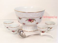 Royal Albert Old Country Roses Punch Bowl by TheDrippingTap