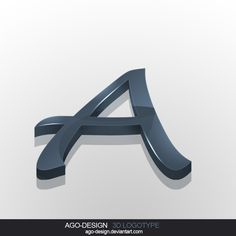 Letter-A 3D Logotype by ~Ago-Design on deviantART