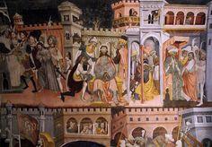 Castello della Manta, Burgkapelle, Fresko der Passion Christi (Manta Castle Chapel, fresco of Christ's passion)