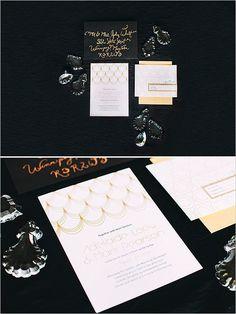 art deco style wedding invites