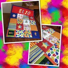 Personalised Patchwork Baby Quilt For Nursery, Quilted Multicoloured Blanket, Baby Shower Gift Baby Patchwork Quilt, Crazy Patchwork, Patchwork Patterns, Quilt Bedding, Baby Quilts, Baby Bedding, Dog Blanket, Fabric Gifts, Patch Quilt