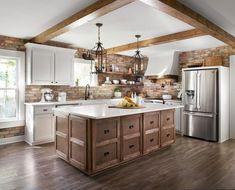 The original kitchen was choppy and dark. We reconfigured it to bring in lots of… - Luxury Kitchen Remodel Kitchen On A Budget, Home Decor Kitchen, New Kitchen, Kitchen Ideas, Kitchen Tips, Kitchen Layouts, Country Kitchen, Luxury Kitchens, Cool Kitchens
