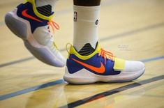 22a699d26e94 Paul George Prepares For First Season At OKC While Wearing Nike PG 1 In  Thunder Colorway