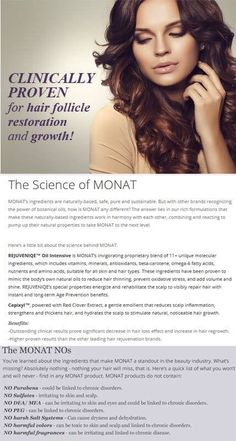 #monat is all #naturaI age prevention hair care with none of the bad stuff! If you would like #free #samples either comment below or email me at danaemarcel44@gmail.com Monat is #naturallybased #haircare with #shampoo that is know to #regrow #hair #itlathers #antiaging #alopecia #hairloss
