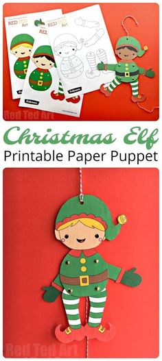 How CUTE are these darling Elf Puppets? A free printable for all to enjoy this Christmas season. Get creative and colour your own! Short on time, make use of the handy coloured versions. Adorable. Super fun Christmas E