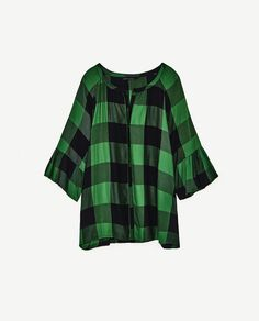 Image 8 of GREEN CHECKED SHIRT from Zara