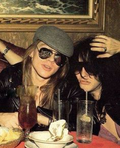 Axl Rose and Izzy Stradlin