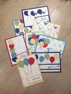 Stempellicht: Glückwunschkarten mit Partyballons