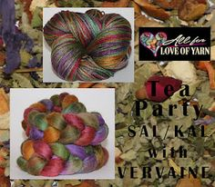 Win a spot in All for Love of Yarn's Tea Party SAL/KAL (http://www.etsy.com/listing/94125998/tea-party-spin-along-knit-along-fiber)  in today's Phat Fiber giveaway