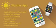 Weather App | Apple Watch and iPhone App (Swift) . Weather App is a iOS and watchOS based application for iPhone and Watch devices. It's easy to use, with simple and beautiful design. All data are displayed in real time using your current