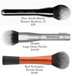 """3,330 Likes, 32 Comments - DupeBoss (@dupeboss) on Instagram: """"POWDER BRUSH AFFAIR  ALTERNATIVES TO @marcbeauty BRONZER BRUSH #12 which is unbelievably priced…"""""""
