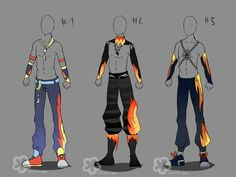 Some Male Outfit Adopts - OPEN 1/3 by Nahemii-san.deviantart.com on @deviantART