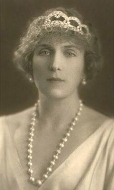 "Princess Victoria Eugenie ""Ena"" (Victoria Eugenie Julia Ena) (1887-1969) of Battenberg, UK was wife of King Alfonso XIII (Alphonse Leon Ferdinand Mary James Isidor Pascal Anthony) (1886-1941) Spain. 2nd Child of Princess Beatrice (Beatrice Mary Victoria Feodore) (1857-1944) UK & Prince Henry  Maurice (1858-1896) Hesse, Germany then of Battenberg, UK. #Cartier Loop Tiara Spanish #RoyalTiara"