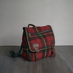 90s Vintage PLAID GAP Mini Backpack Purse