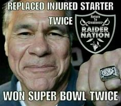 Two Super Bowl Rings. But yet he's not in the Hall of Fame! Why in the fuck is that? Raiders Stuff, Oakland Raiders Football, Raiders Baby, Nfl Oakland Raiders, Time Raiders, Pittsburgh Steelers, Dallas Cowboys, Football Memes, Football Cards