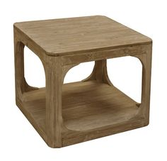 Square Side Table In Washed Pine