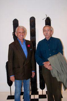 Art Dealer: Ira Spanierman with famous playwright: Edward Albee / Spanierman Gallery - East Hampton
