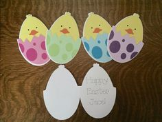 Easter Egg Chicks Easter Card for children Choose by TheDarkOrchid