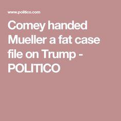 Comey handed Mueller a fat case file on Trump - POLITICO