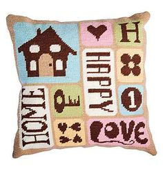 Home Tapestry Cushion Front Kit by DMC