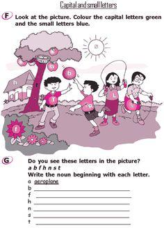 Grade 2 Grammar Lesson 1 The alphabet & Capital and small letters English Grammar Notes, English Grammar Exercises, English Phonics, Good Grammar, Teaching English Grammar, English Grammar Worksheets, 2nd Grade Worksheets, English Language Learners, Grammar Lessons
