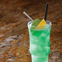 PF Chang's Royal Poolside (3/4 oz each Captain Morgan rum, 3/4 oz Malibu rum, 1 ounce Blue Curaçao, 2 oz orange juice, 2 oz pineapple juice)