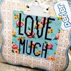 LOVE MUCH perler beads by craftychica