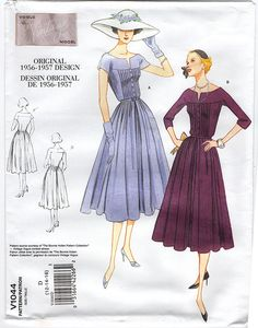 Vintage Vogue 1044 - Out of Print 1950 Dress Sewing Pattern