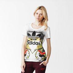 Kadın Tropical Print T-Shirt