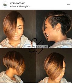 New short black hairstyles! African Hairstyles, Weave Hairstyles, Girl Hairstyles, Short African American Hairstyles, Retro Hairstyles, Girl Short Hair, Short Hair Cuts, Hair Girls, Curly Hair Styles