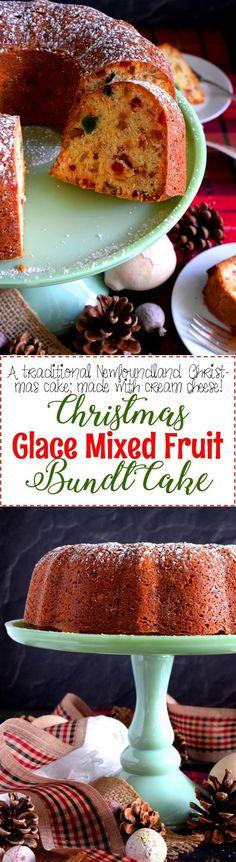 Glace Mixed Fruit Bundt Cake - Lord Byron's Kitchen Fruit Cake Cookies Recipe, Cupcake Recipes, Cookie Recipes, Cupcake Cakes, Fruit Cakes, Bundt Cakes, Cupcakes, Sweets Cake, Sweets Recipes