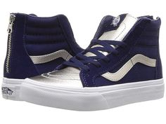 Vans Kids Sk8-Hi Zip (Little Kid Big Kid) ((Metallic 69577e521