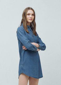 Robe denim moyen - Femme. Fashion WomenWomen s FashionMango FranceBlue ... 1531db257090