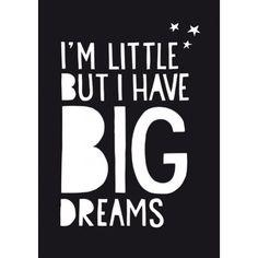 Paperfuel poster Big Dreams 50 x 70 cm   PSikhouvanjou