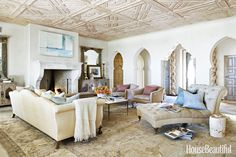 Designer Ohara Davies-Gaetano conjures easygoing European elegance to imbue a brand-new coastal California house with an old soul | House Beautiful June 2015