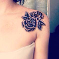 Rose on the shoulder