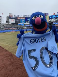 Grover At Yankee Stadium (for some reason) | The Muppet Mindset