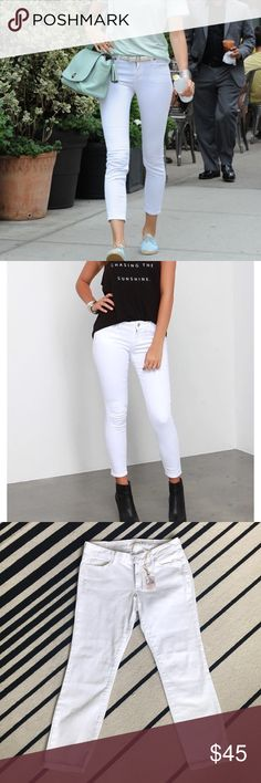 "NWT White Skinny Jeans Soft and stretchy denim by Jessica Simpson. Style called Forever Skinny Crop. Inseam 26"", rise 9"" Jessica Simpson Jeans Ankle & Cropped"