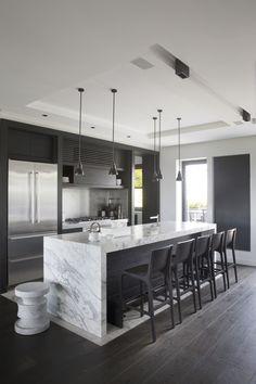 Modern Kitchen Designs with Butcher Block Counter Tops Kitchen Room Design, Modern Kitchen Design, Living Room Kitchen, Home Decor Kitchen, Interior Design Kitchen, Kitchen Ideas, Elegant Kitchens, Pantry Design, Cuisines Design