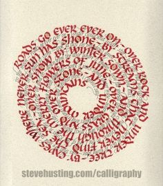 Spiral Calligraphy with The Hobbit by Steve Husting