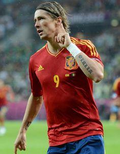 Fernando Torres celebrando su doblete frente a Irlanda (4-0) en la Eurocopa 2012.