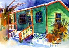 Island Water Colors   By Brigitte Bowyer Carey