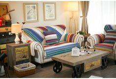 Дождь цветок класса хлопчатобумажной ткани дивана подушку четыре сезона скольжения дуплекса средиземноморской минималистский современный диван полотенце саван - глобальная станция Taobao