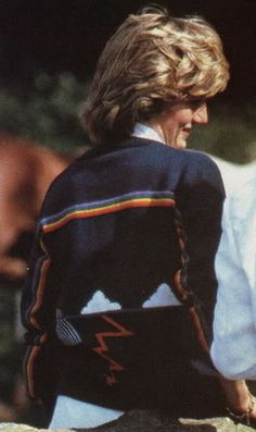 August 1, 1983:  Princess Diana at Cowdray Park to watch a polo match.
